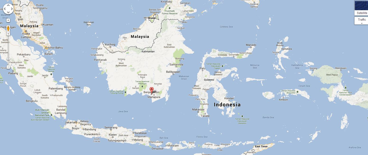 banjarmasin2 banjarmasin di peta indonesia